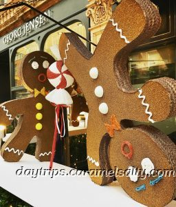 Gingerbread Men Outside George's Private Member Club