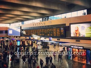 Euston Station's Waiting Lounge and Departure Boards