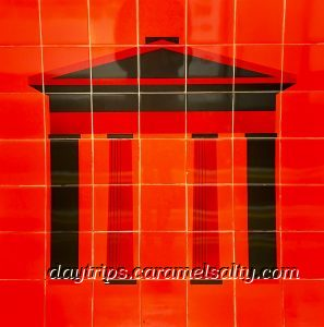 Motif of Euston Arch on The Victoria Line Platform at Euston Underground