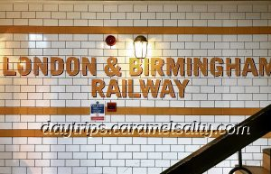 Sign for the London & Birmingham Railway Company at the Doric Arch