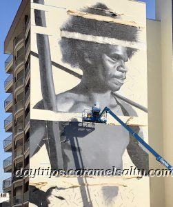 Street Art Darwin of An Aborigine Man