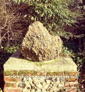 Hertfordshire Puddingstone in the Grounds of Hertford Castle
