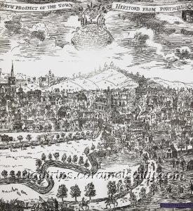 An Historical Drawing of Hertford in the Hertford Museum
