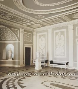 The Grey and White Grecian and Roman Entrance Hall at Osterley House