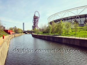 One Of The Many Waterways in The Olympic Park