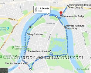 My Route Around Barnes