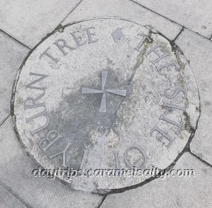 A Plaque On The Ground Denoting The Tyburn Tree