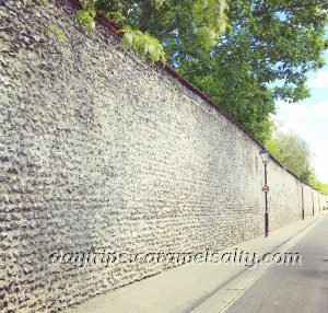 An Old Wall Along St Swithun Street