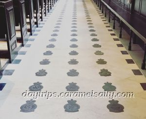 Welsh Slate Badges In The Floor of St Clement Danes