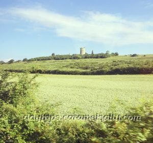 Hadleigh Castle Ruins From The Train