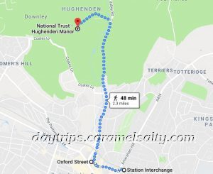 Walk from Train Station and then Bus Route To Hughenden Manor