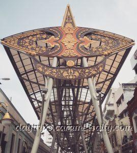 Malaysian Kite Motif Along Jalan Hang Kasturi