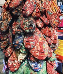Batik Masks At Central Market, Kuala Lumpur