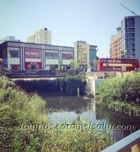 The Wandle Running Under The Southside Shopping Centre
