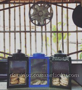 Biscuit Tins Inside A Village Cafe