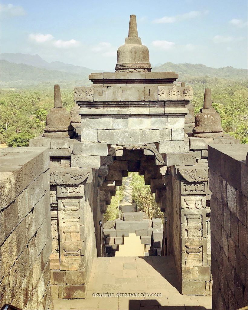 The Stair Wells At Borobodur
