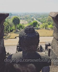 View Down Kedu Plain From Borobodur