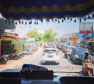 View of Traffic from The Bus To Borobodur