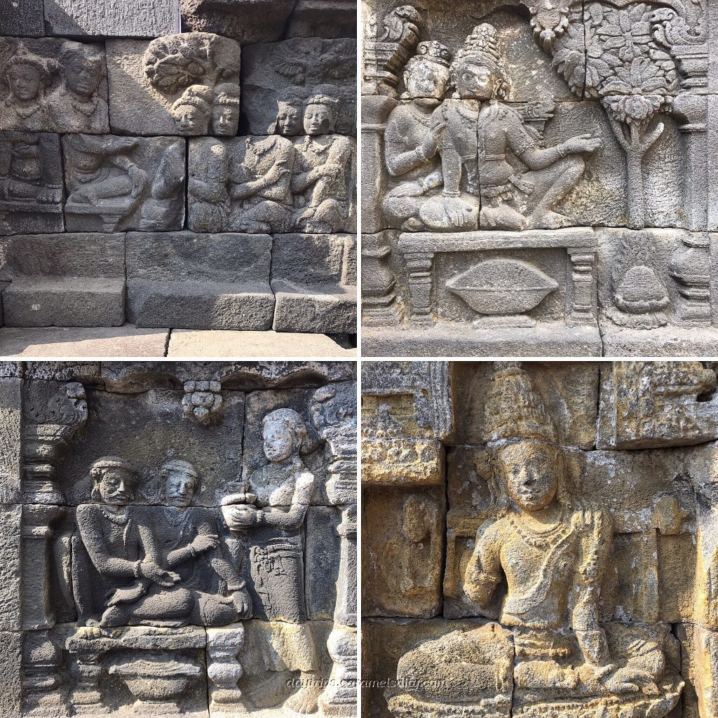Carved Stone Reliefs At Borobodur