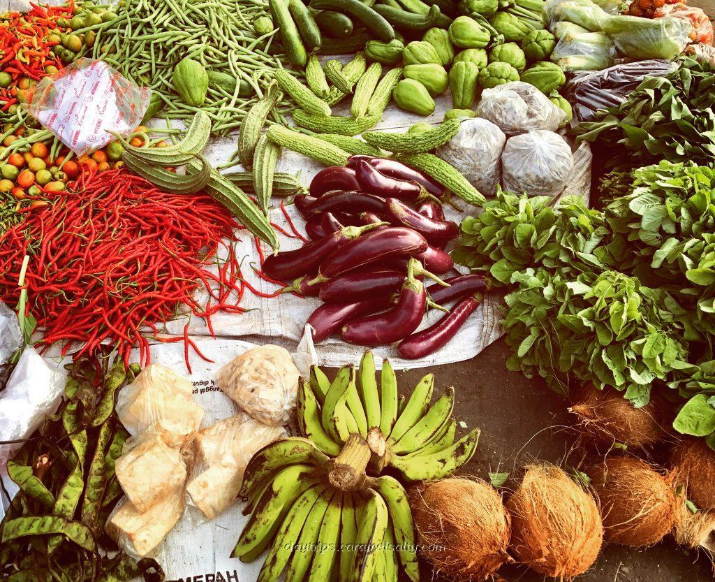 Vegetables At A Javanese Market