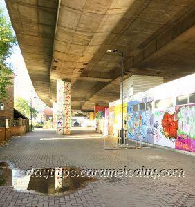 Underneath the grafitti filled Westway