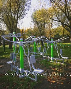 The outside gym at Little Wormwood Scrubs