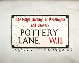 Pottery Lane Street Sign