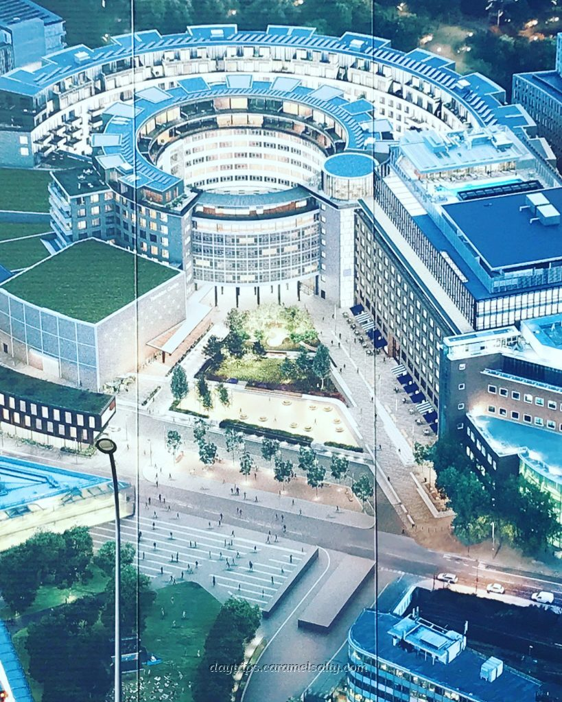 A Billboard Showing the Aerial View of The Now Developed BBC Complex
