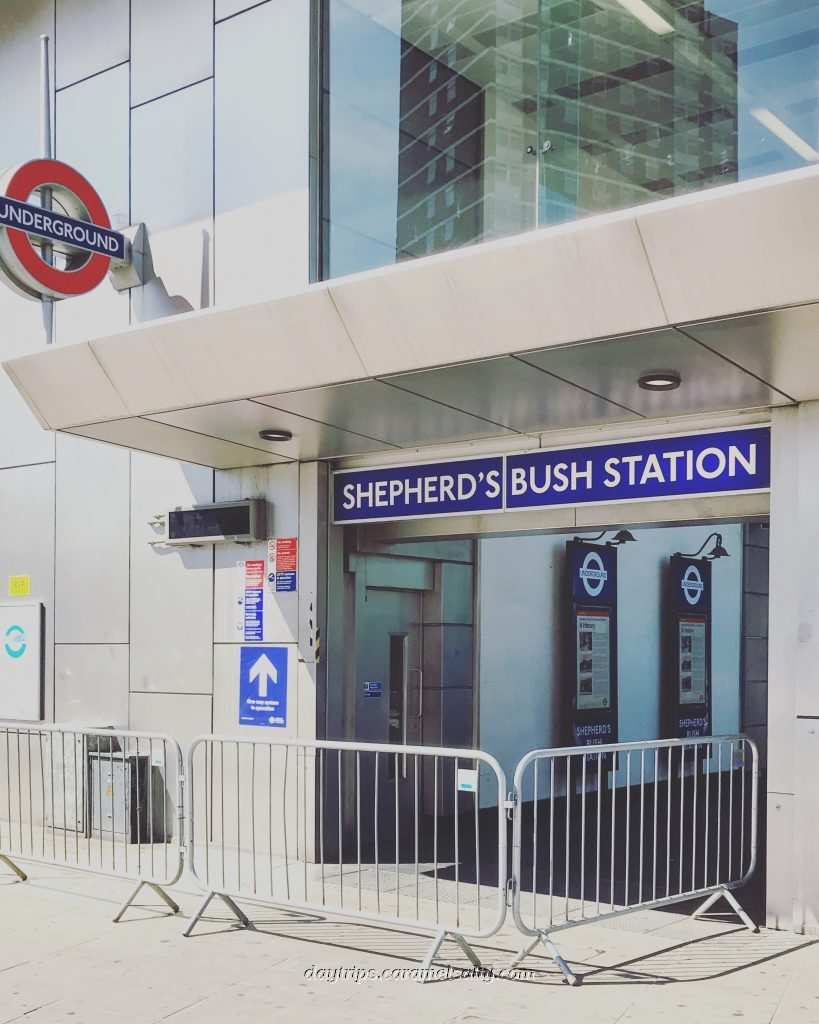 Entrance to Shepherds Bush Underground Station