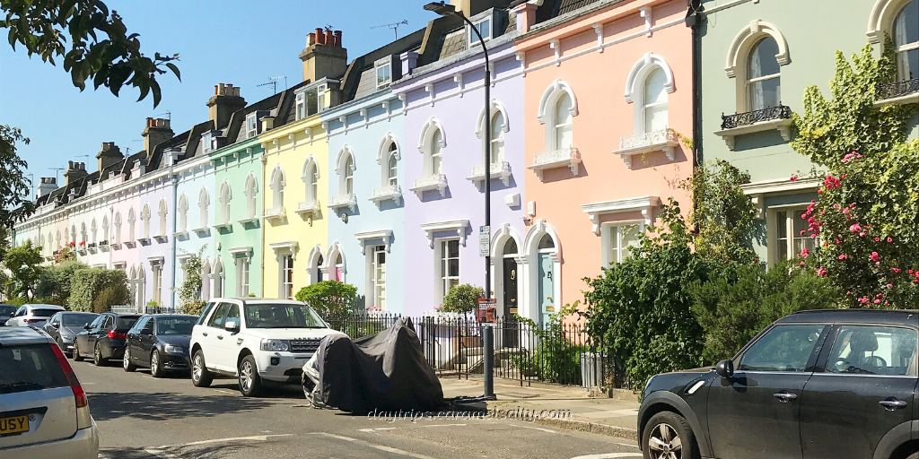 Wingate Road's Pastel Shaded Terraces