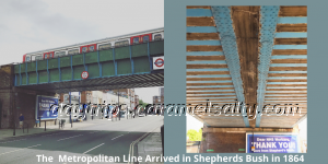 The Metropolitan Line over Goldhawk Road