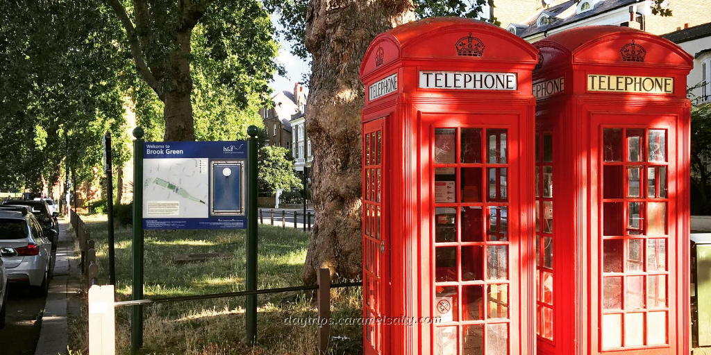 A Pair of Telephone Boxes at Brook Green