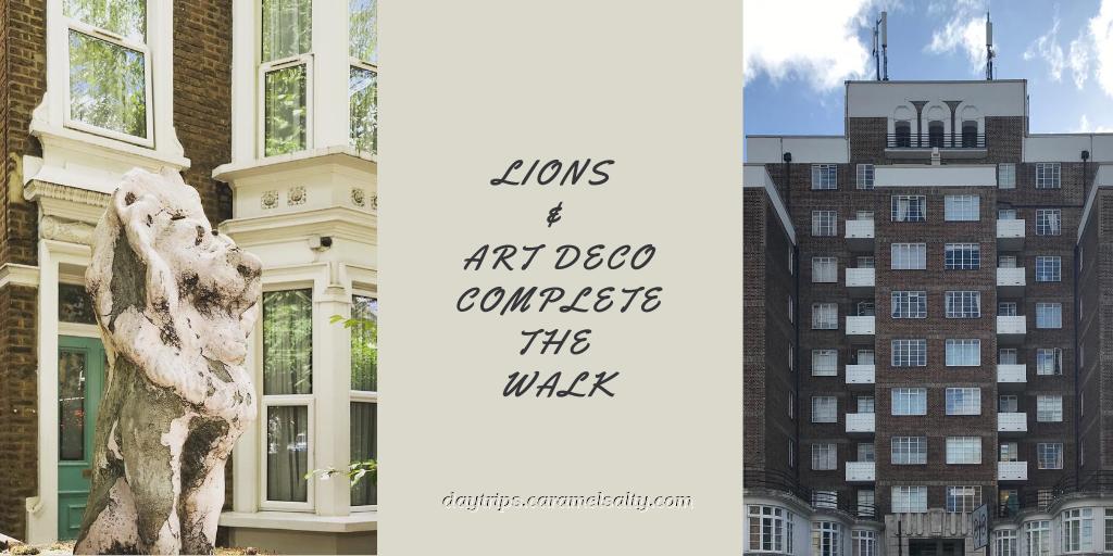 A lion and an Art Deco building on Shepherds Bush Road