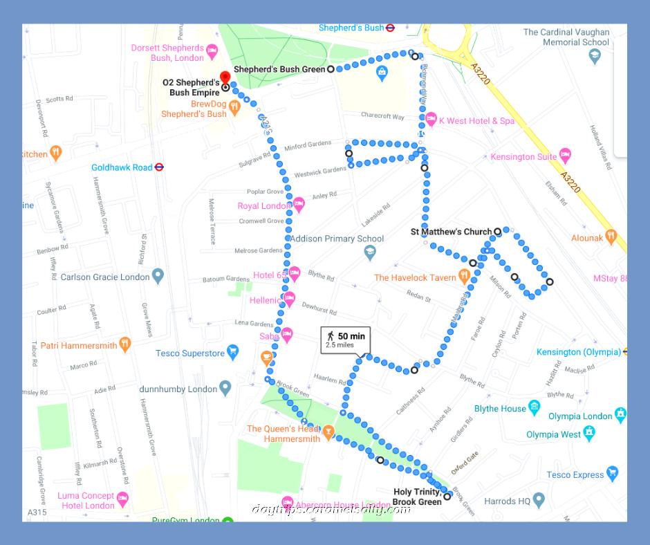 Brook Green Walking Route