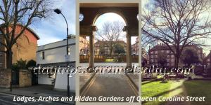 Lodges, Arches and Hidden Gardens off Queen Caroline Street