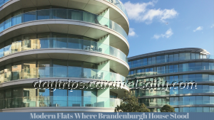 The Flats in Fulham Reach in place of Brandenburgh House