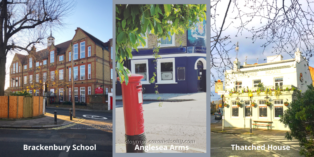 Brackenbury School, Anglesea Arms and Thatched House