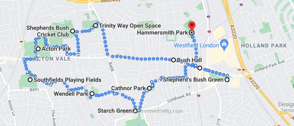 Route of my Uxbridge Road